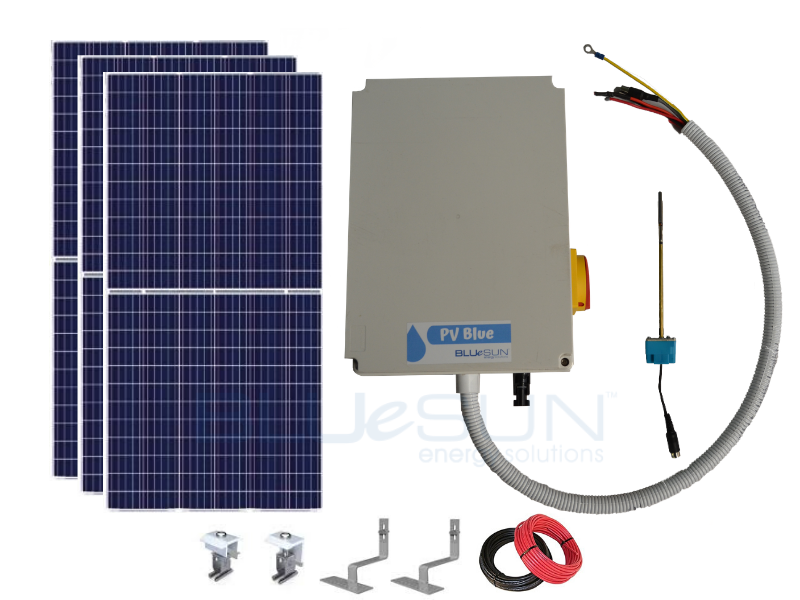PV Blue - 150L Solar Hot Water System - Tiled Roof