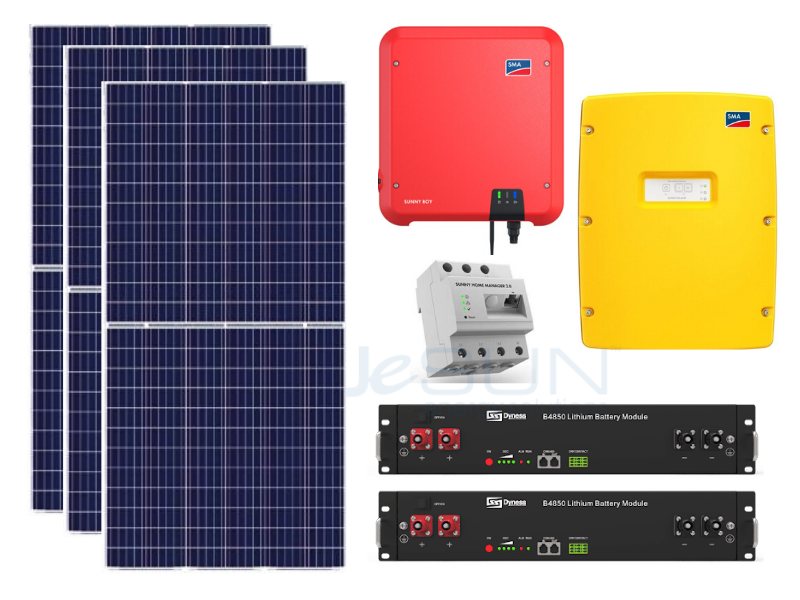 4kWp SMA Package with 7kWh Lithium Battery